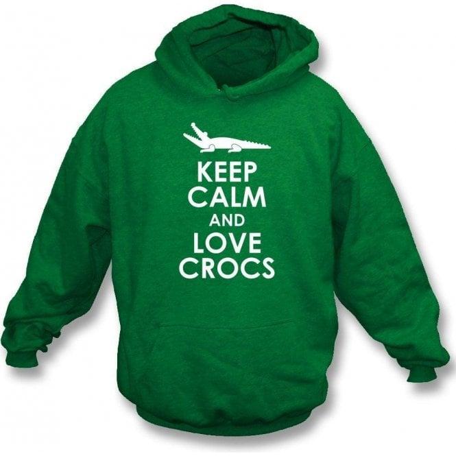 Keep Calm And Love Crocs Kids Hooded Sweatshirt