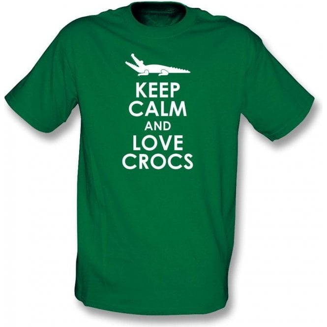 Keep Calm And Love Crocs Kids T-Shirt