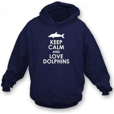 Keep Calm And Love Dolphins Kids Hooded Sweatshirt