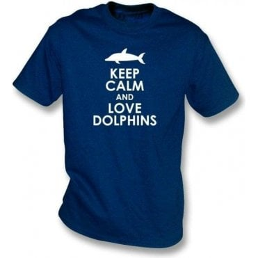 Keep Calm And Love Dolphins Kids T-Shirt