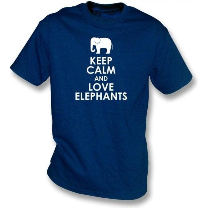 Keep Calm And Love Elephants Kids T-Shirt