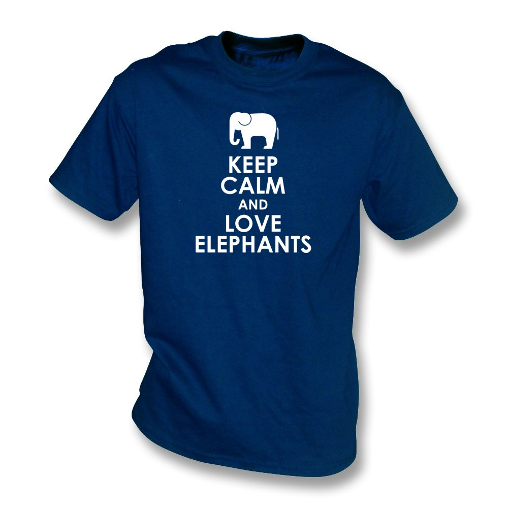 keep calm and love elephants kids t shirt from animals yeah yeah uk