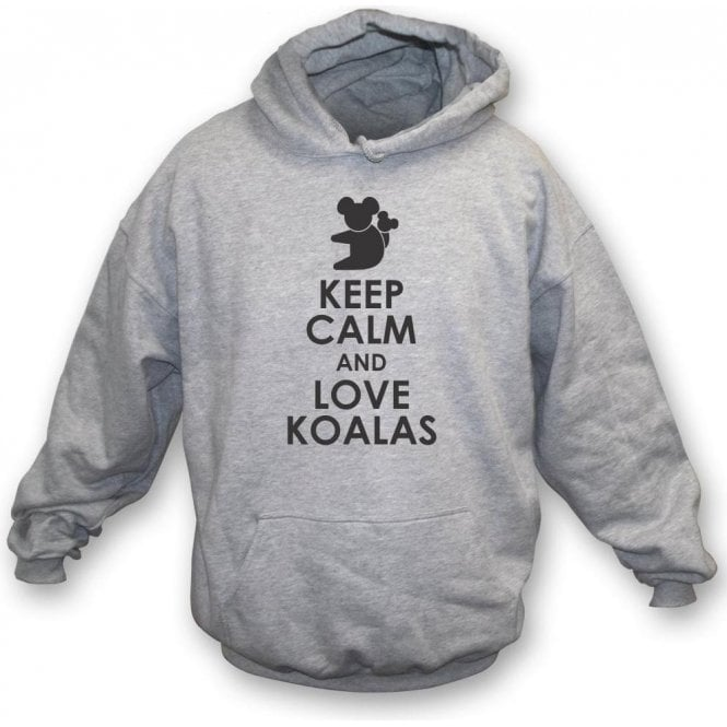 Keep Calm And Love Koalas Kids Hooded Sweatshirt