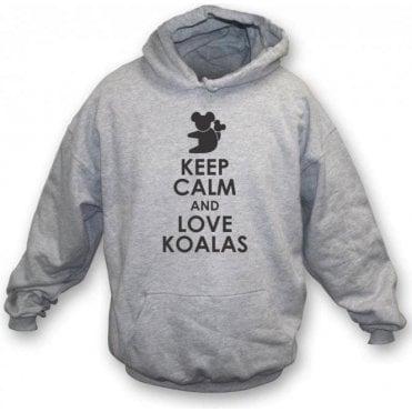 Keep Calm And Love Koalas Kids Hooded Sweatshirt