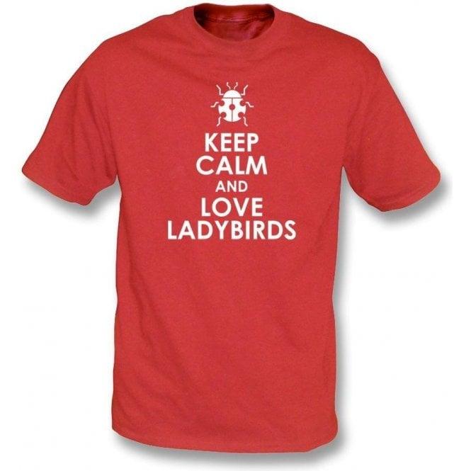 Keep Calm And Love Ladybirds Kids T-Shirt