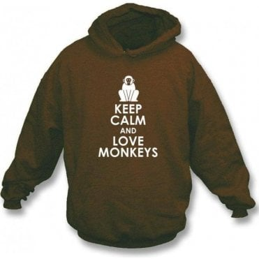 Keep Calm And Love Monkeys Hooded Sweatshirt