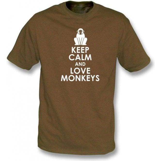 Keep Calm And Love Monkeys Kids T-Shirt