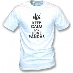 Keep Calm And Love Pandas Kids T-Shirt