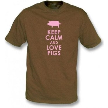 Keep Calm And Love Pigs Kids T-Shirt