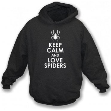 Keep Calm And Love Spiders Kids Hooded Sweatshirt