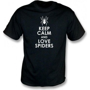 Keep Calm And Love Spiders Kids T-Shirt