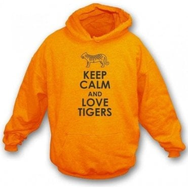Keep Calm And Love Tigers Kids Hooded Sweatshirt