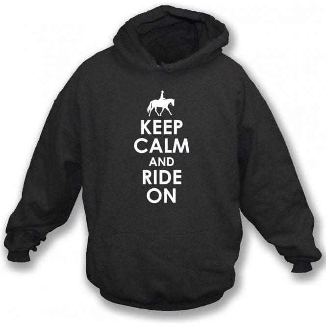 Keep Calm And Ride On Kids Hooded Sweatshirt