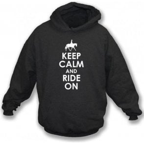 Keep Calm And Ride On Kids Hooded Sweatshirt