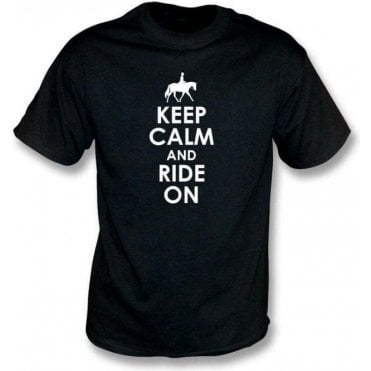 Keep Calm And Ride On Kids T-Shirt