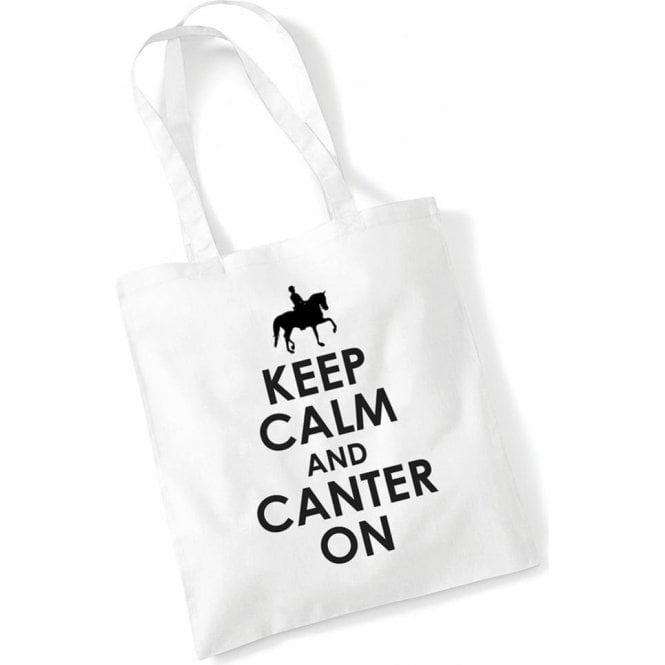Keep Calm & Canter On Long Handled Tote Bag