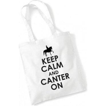 Keep Calm & Canter On Long Handled Tote Bag