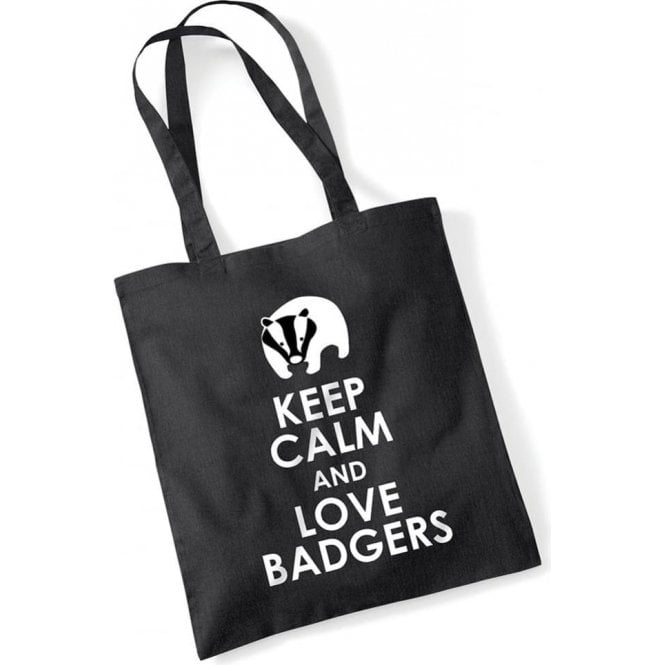 e95df801f5 Keep Calm   Love Badgers Long Handled Tote Bag - from Animals Yeah ...