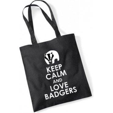 Keep Calm & Love Badgers Long Handled Tote Bag
