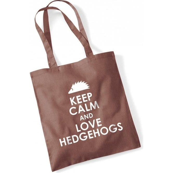 Keep Calm & Love Hedgehogs Long Handled Tote Bag