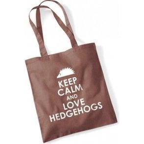 Keep Calm & Love Hedgehogs Long Handled Tote Bag