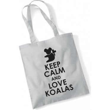 Keep Calm & Love Koalas Long Handled Tote Bag