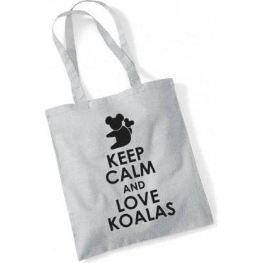 Keep Calm & Love Koalas Long Handled Tote Bag