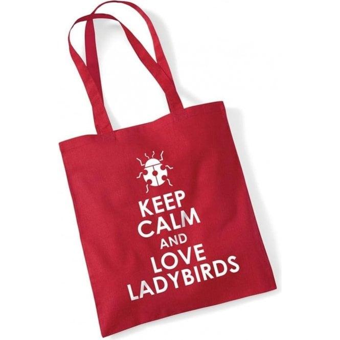 Keep Calm & Love Ladybirds Long Handled Tote Bag