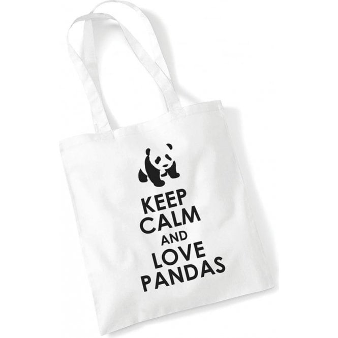 Keep Calm & Love Pandas Long Handled Tote Bag