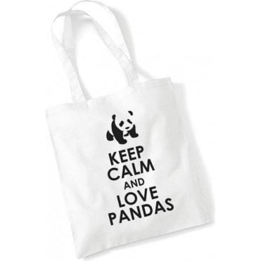 Keep Calm & Love Pandas Long Handled Tote Bag