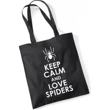 Keep Calm & Love Spiders Long Handled Tote Bag