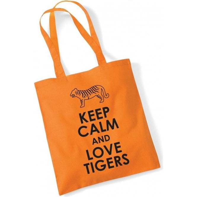 Keep Calm & Love Tigers Long Handled Tote Bag