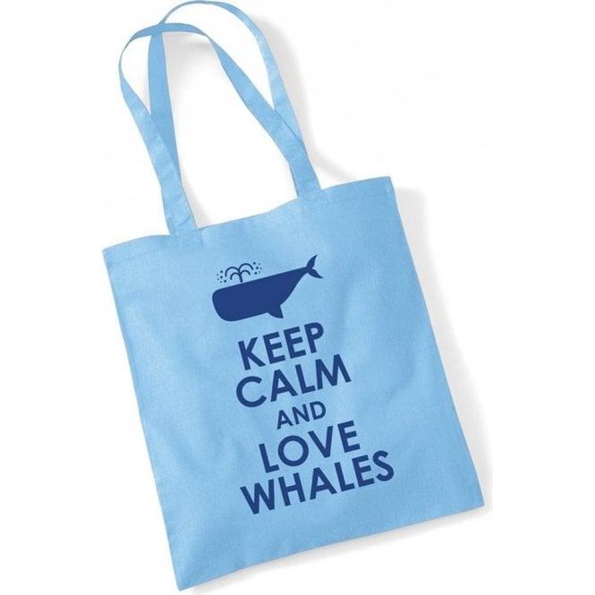 Keep Calm & Love Whales Long Handled Tote Bag