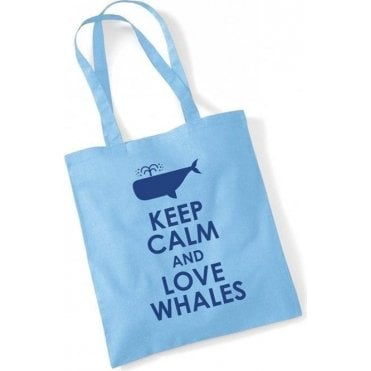 Keep Calm & Love Whales Long Handled Tote Bag