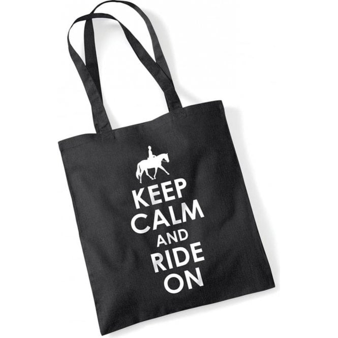 Keep Calm & Ride On Long Handled Tote Bag