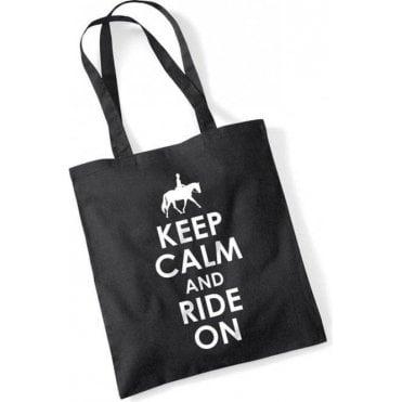 Keep Calm & Ride On Long Handled Tote Bag