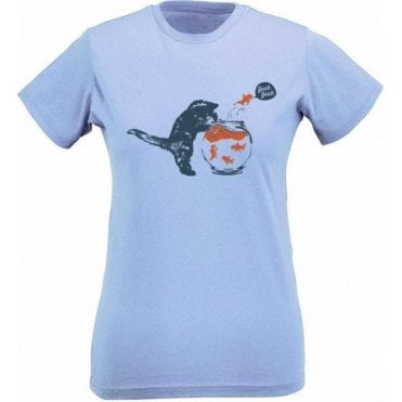 Kitten & Goldfish Yeah Yeah Womens Slim Fit T-Shirt