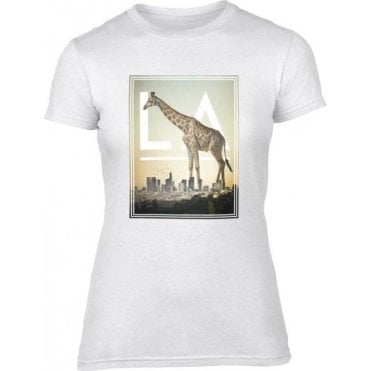 L.A. Giraffe Women's Slim Fit T-Shirt