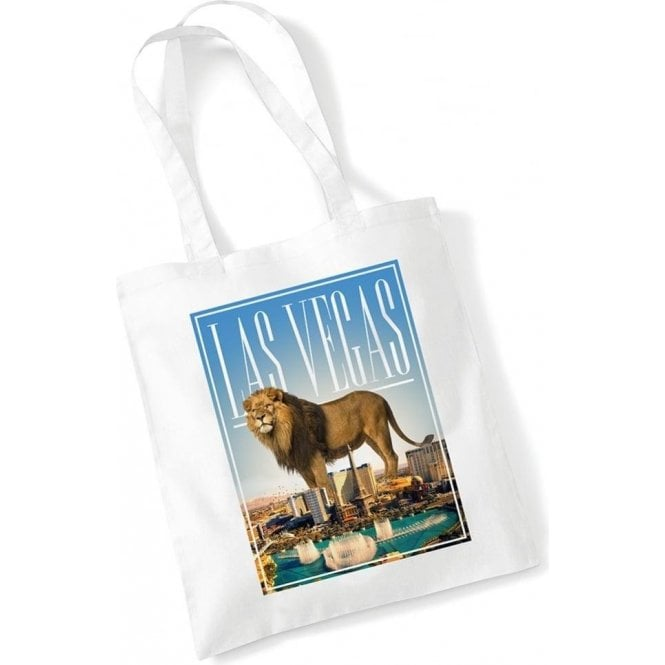 Las Vegas Lion Long Handled Tote Bag