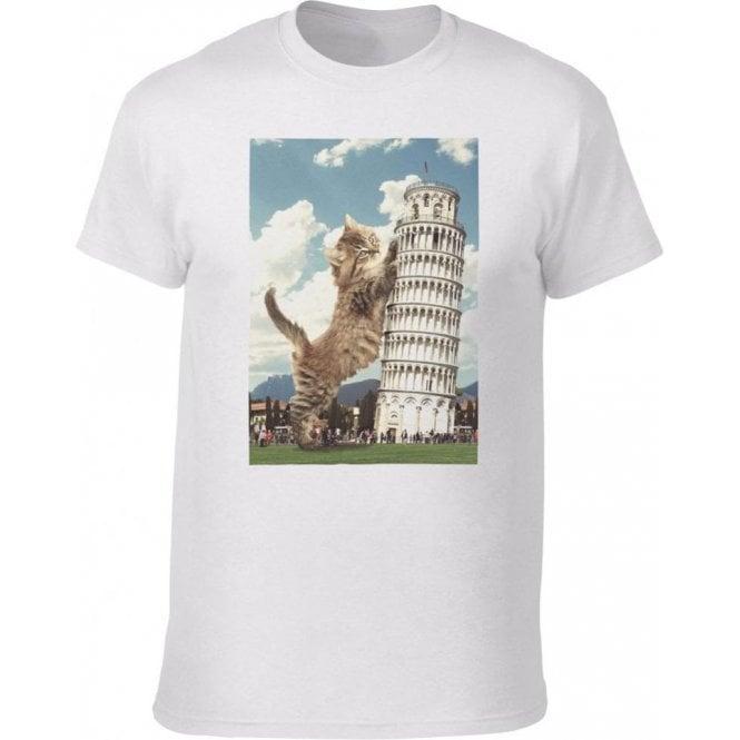 Leaning Tower of Pisa Kitten Kids T-Shirt