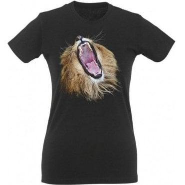 Lion Head Roars Womens Slim Fit T-Shirt