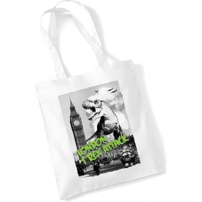 London T-Rex Attack Long Handled Tote Bag