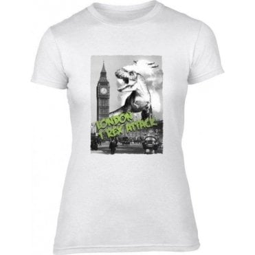 London T-Rex Attack Women's Slim Fit T-Shirt