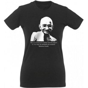 Mahatma Ghandi Womens Slim Fit T-Shirt