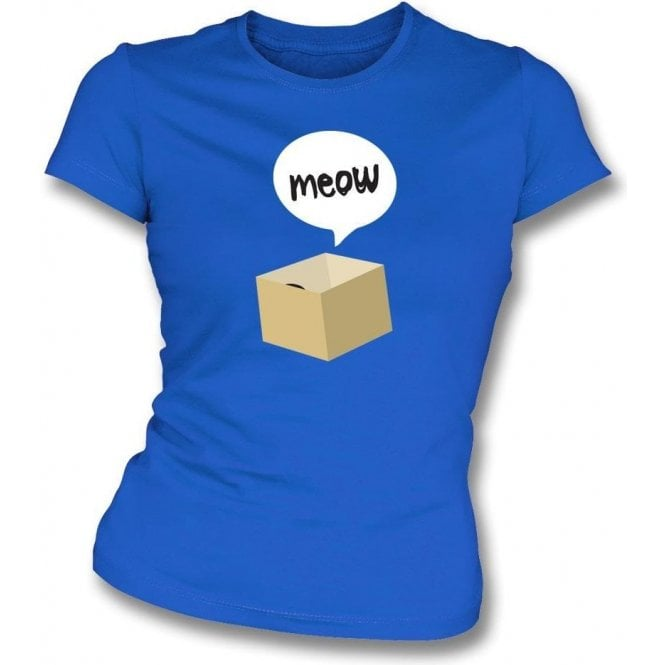 Meow Cat In A Box Womens Slim Fit T-Shirt