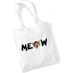 Meow Long Handled Tote Bag