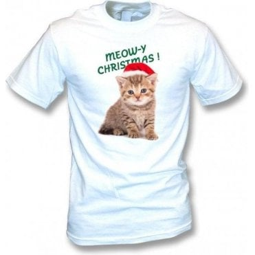 Meow-y Christmas! (White) T-Shirt