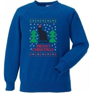 Meowy Christmas (Blue) Sweatshirt
