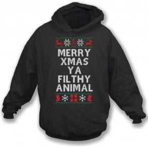 Merry Xmas Ya Filthy Animal (Inspired By Home Alone 2: Lost In New York) Hooded Sweatshirt