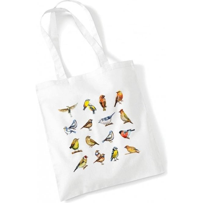 Multiple Birds Long Handled Tote Bag